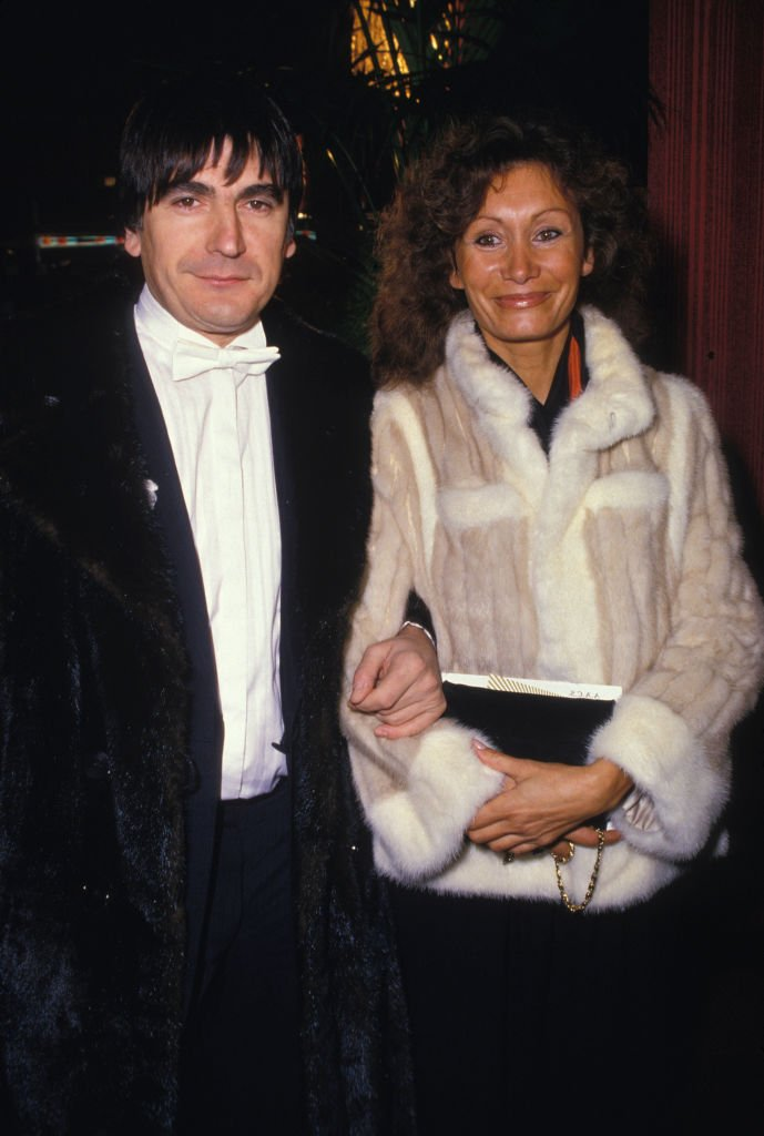 Serge Lama et sa femme Michèle le 26 novembre 1985 à Paris. l Source : Getty Images