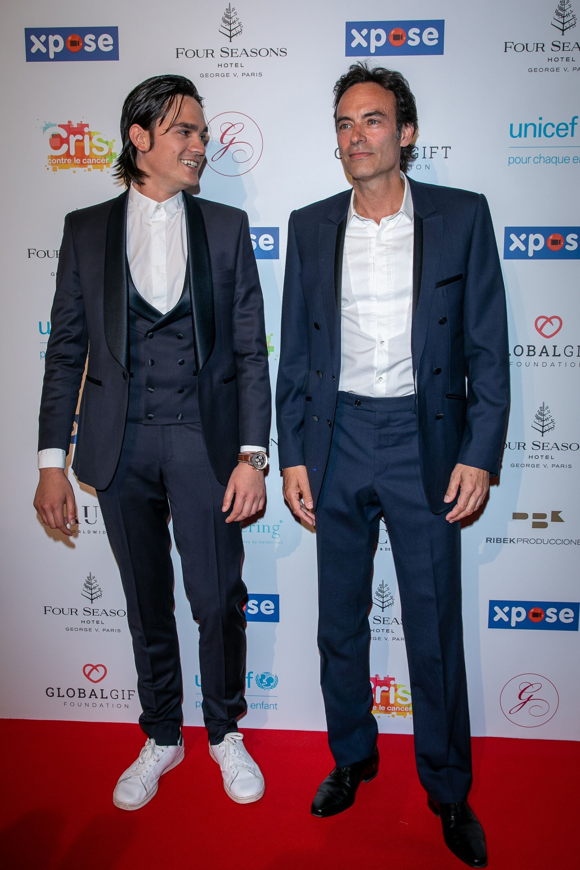 Anthony Delon et Alain Fabien Delon |Source: Getty Images