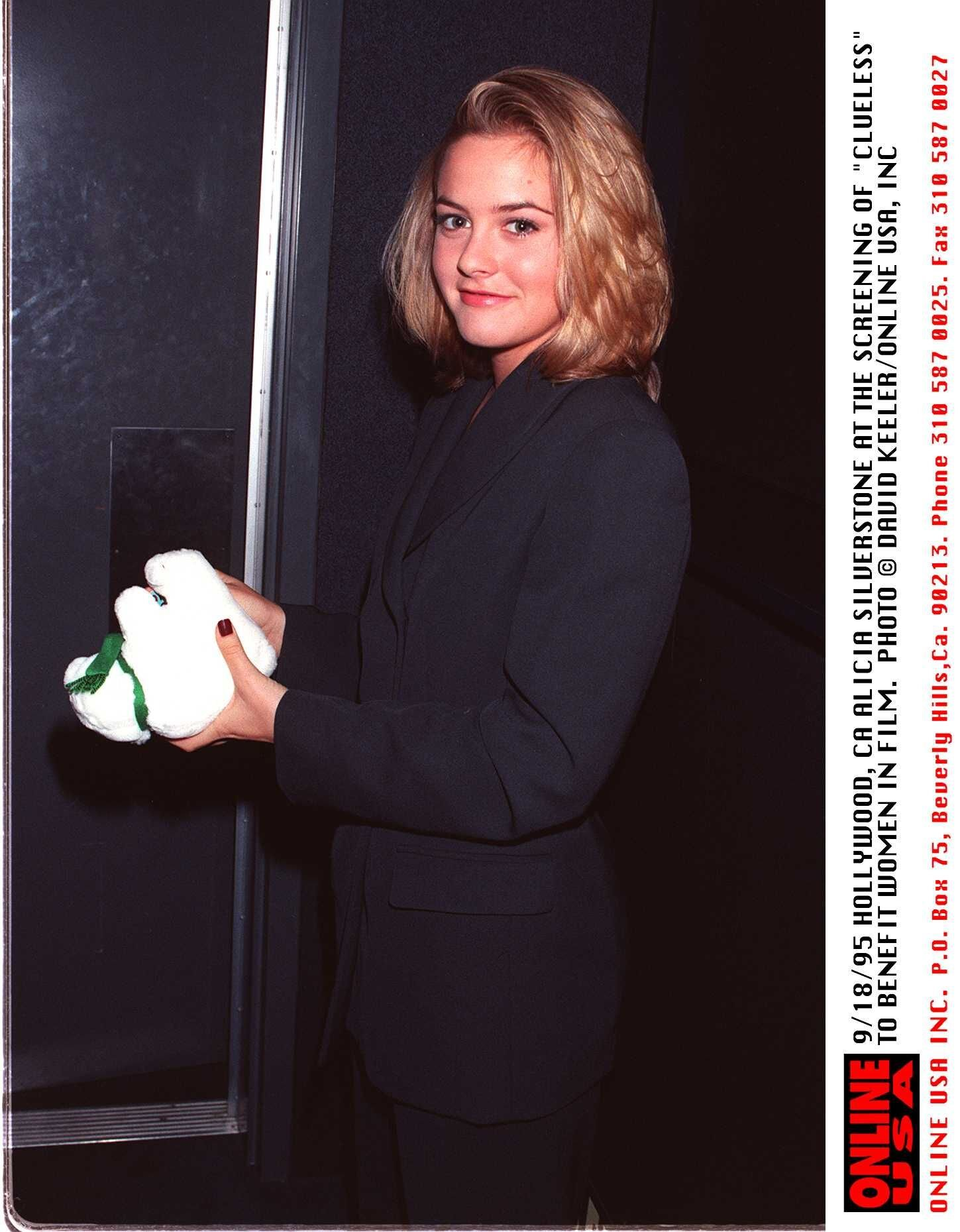 """Alicia Silverstone in the screening of """"Clueless"""" benefit in Hollywood in 1995 