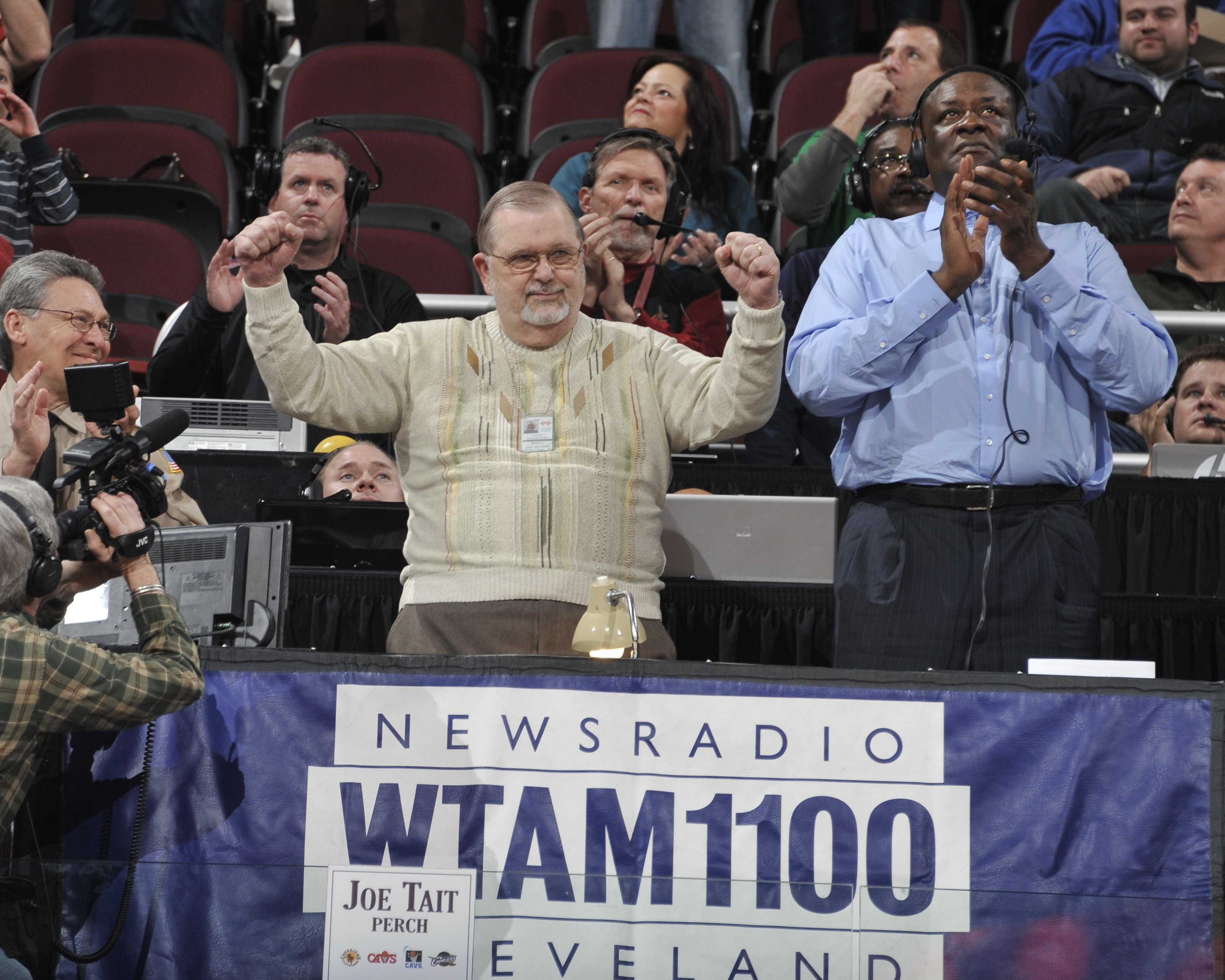 Joe Tait on his Appreciation Night during a game between the Chicago Bulls and the Cleveland Cavaliers on April 8, 2011, in Cleveland, Ohio   Photo: David Liam Kyle/NBAE/Getty Images