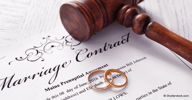 Empörte Braut teilt Ehevertrag des Partners, der sie verpflichtet, Gewicht zu verlieren