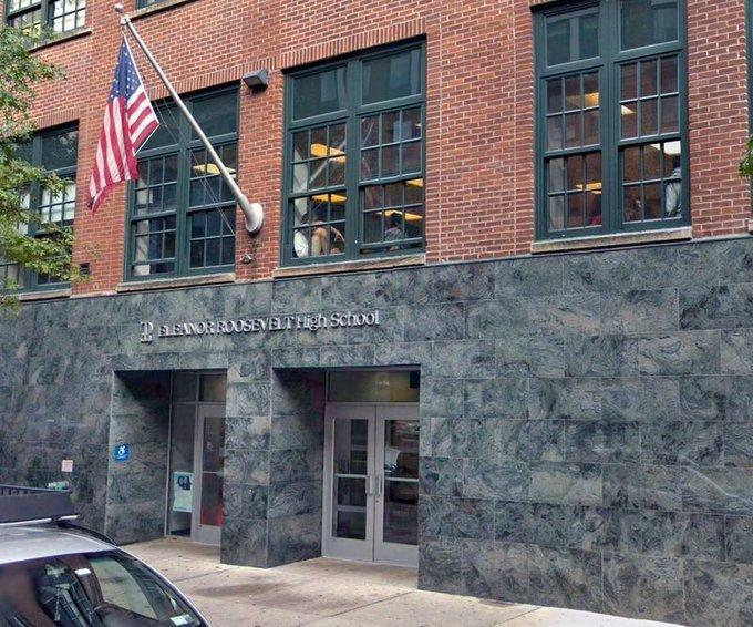 Eleanor Roosevelt High School building.   Source: Google Maps