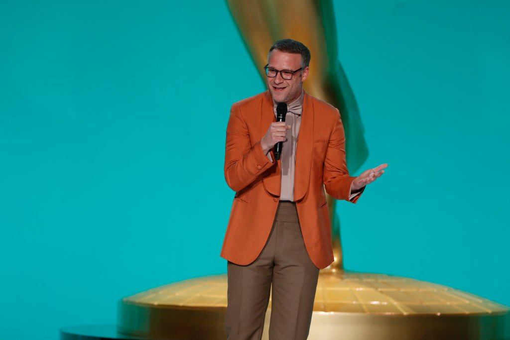 Seth Rogen appears at the 73rd Emmy Awards broadcast, September 2021   Source: Getty Images