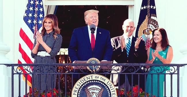 Melania Trump Looks like Ivanka's Twin While Wearing Almost the Same Belted Polka Dot Dress
