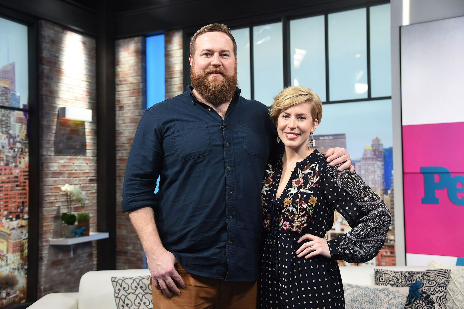 """Ben Napier and Erin Napier of  """"Home Town"""" visit People Now in New York for an interview in January 2020 