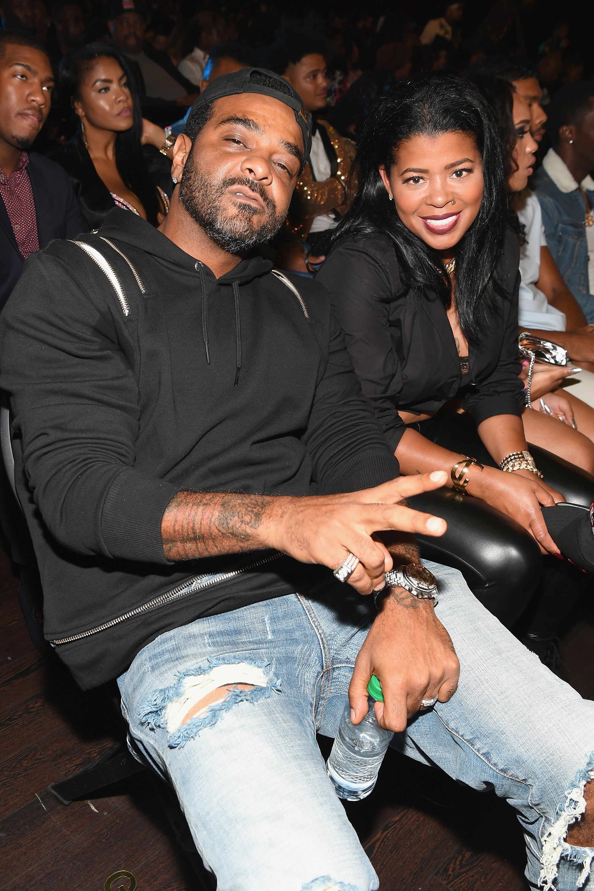 Rapper Jim Jones and fiancé Chrissy Lampkin at the 2017 BET Hip Hop Awards. | Photo: Getty Images
