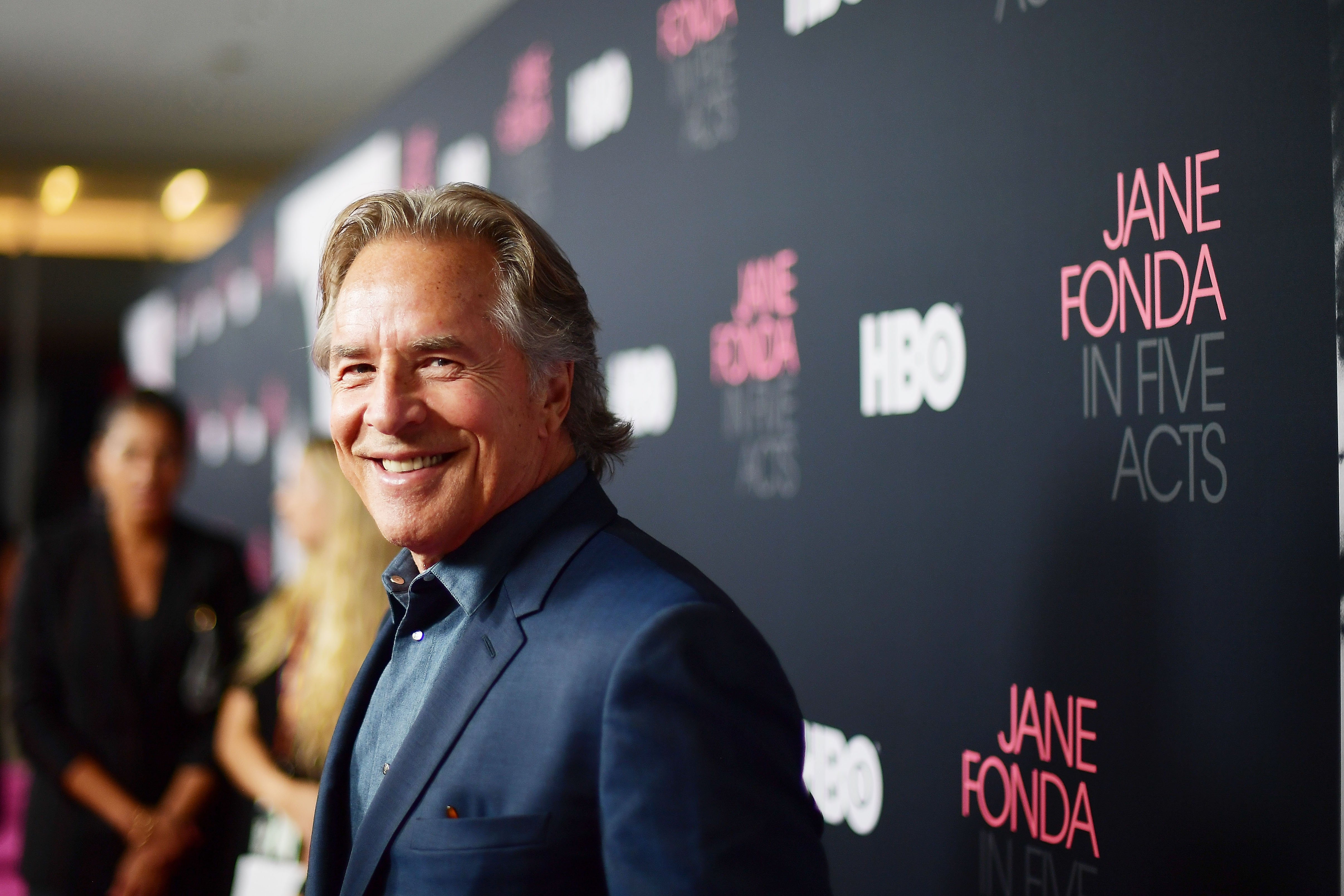 "Don Johnson attends the premiere of HBO's ""Jane Fonda In Five Acts in July 2019 