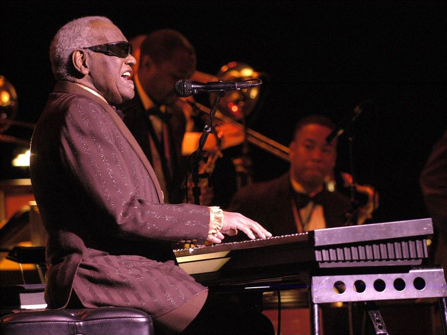 Ray Charles at the 2003 Montreal International Jazz Festival | Photo By Victor Diaz Lamich, CC BY 3.0, Wikimedia Commons Images