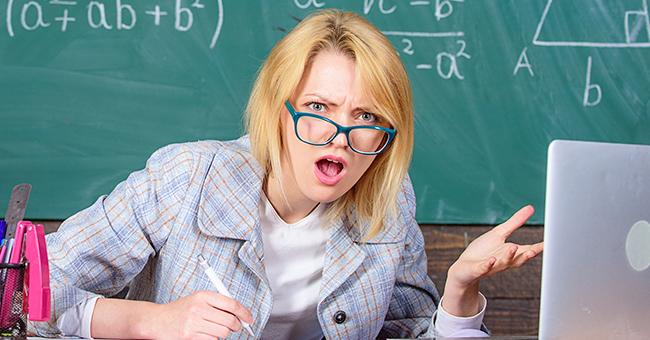 Daily Joke: Teacher Is Indignant as She Hears Little Johnny Swearing