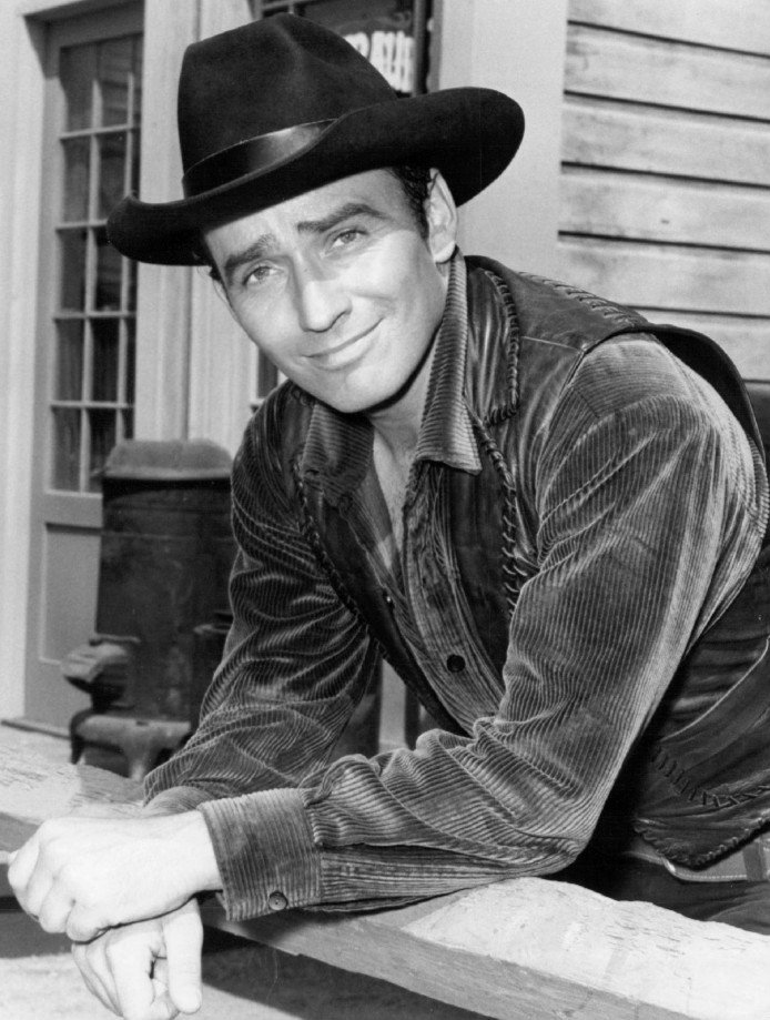 """James Drury as The Virginian from the television program """"The Virginian"""" in 1971. 