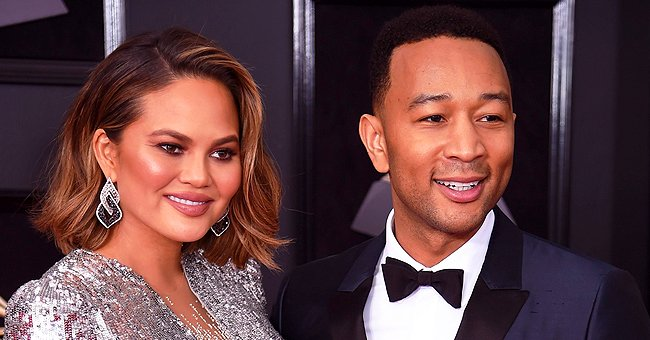 John Legend and Chrissy Teigen's Kids Luna and Miles Look like Cute Little Burritos in Colorful Blankets
