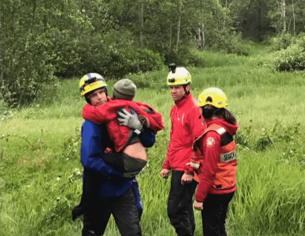 Two children rescued, cold but not seriously hurt, after spending the night alone in a forested area of Burke Mountain in Coquitlam, B.C. | Source: YouTube/ CBC News: The National.