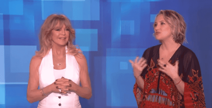 Goldie Hawn and Kate Hudson on The Ellen Show. | Photo: YouTube/ TheEllenShow