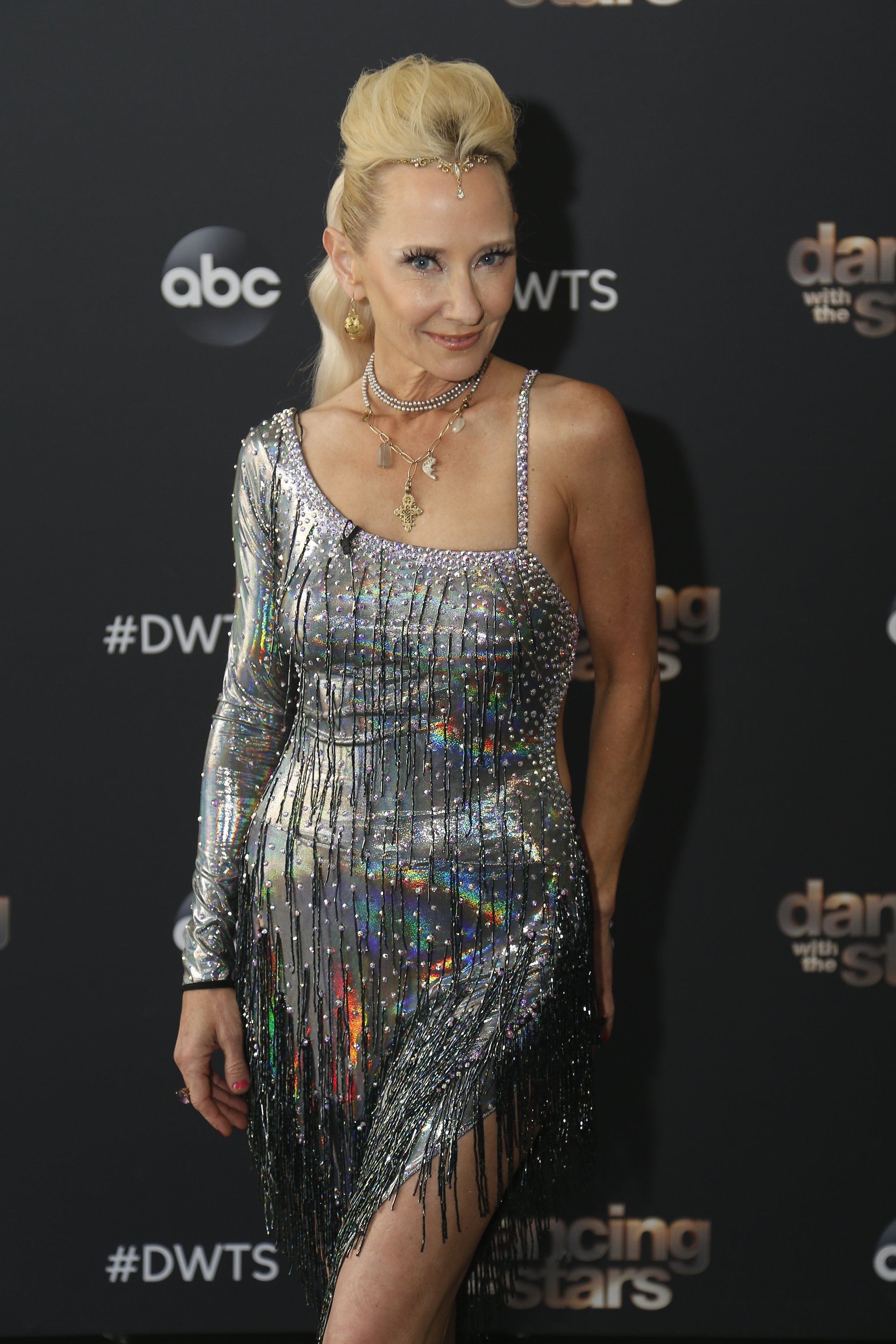 """Anne Heche pictured during her participation in season 29 of """"Dancing With the Stars"""" on September 14, 2020. 