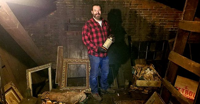 A man found century-old hidden treasures in a hidden attic and looked through them to find out more | Photo: Twitter/artnet
