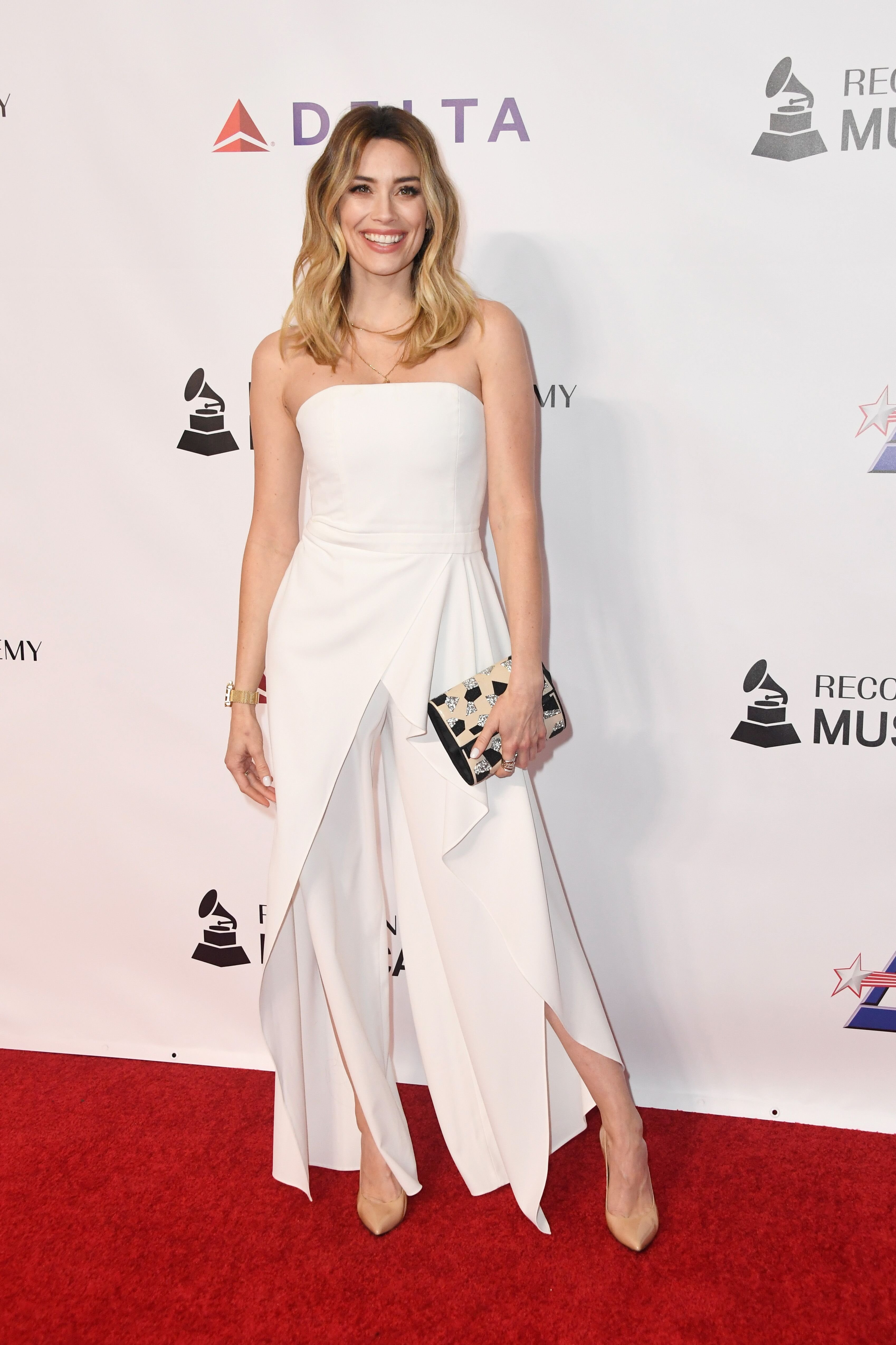 Arielle Vandenberg at THE MusiCares Person of the Year EVENT honoring Dolly Parton in 2019 in Los Angeles | Source: Getty Images