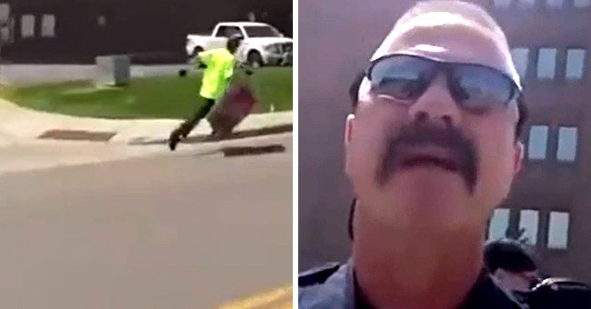 Officer Chases a Protester but Gets Reprimanded by Sergeant for Having No Reason to Arrest Him