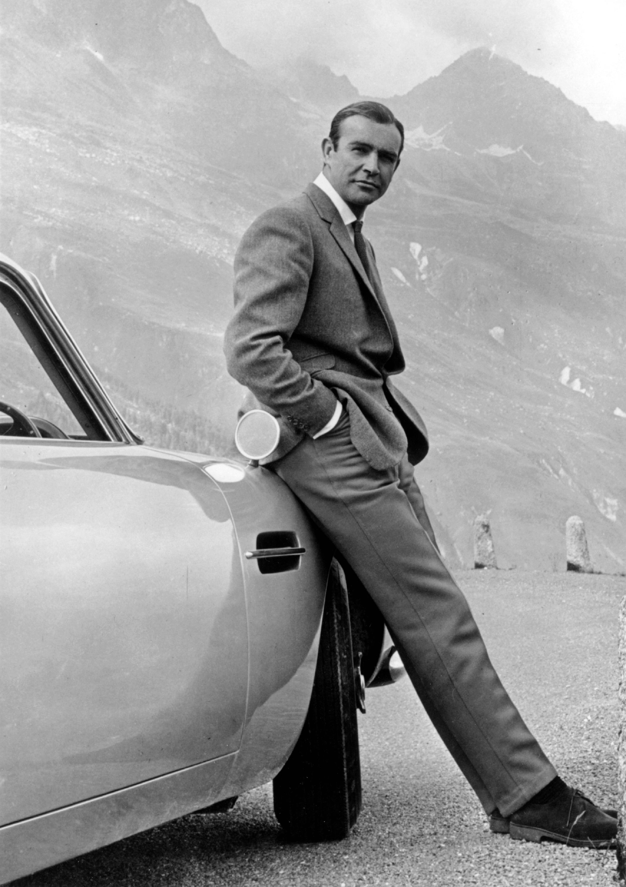 "Sean Connery as James Bond in the 1964 film ""Goldfinger"" 