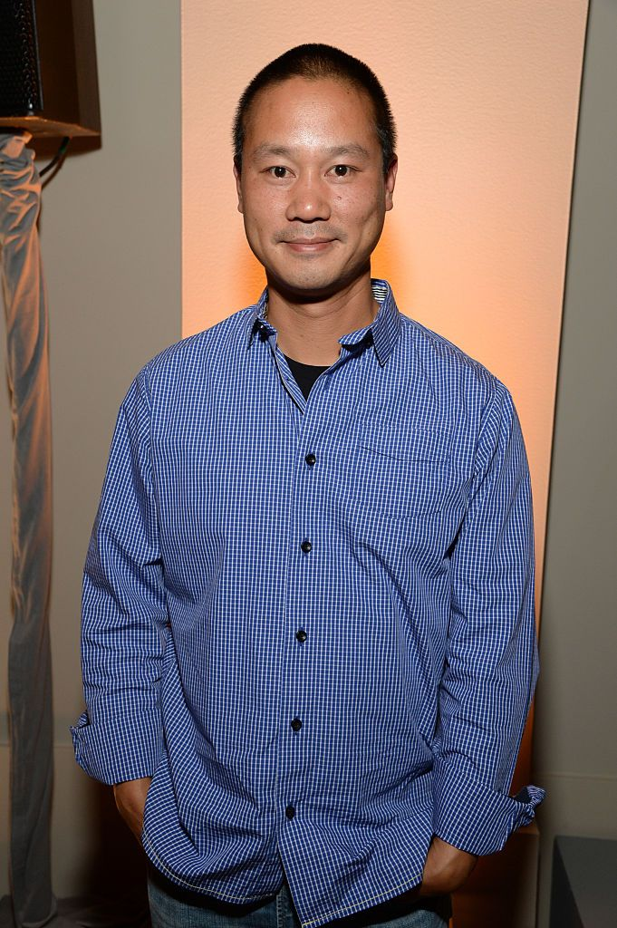 Former Zappos.com CEO Tony Hsieh at the Vanity Fair New Establishment Summit Cockatil Party in San Francisco, California | Photo: Michael Kovac/Getty Images for Vanity Fair