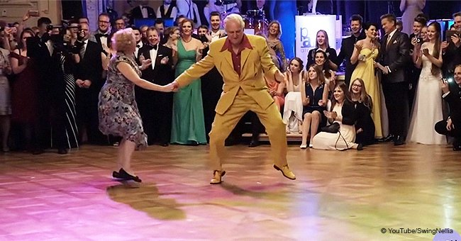 Senior couple bring the house down with outstanding boogie-woogie dance