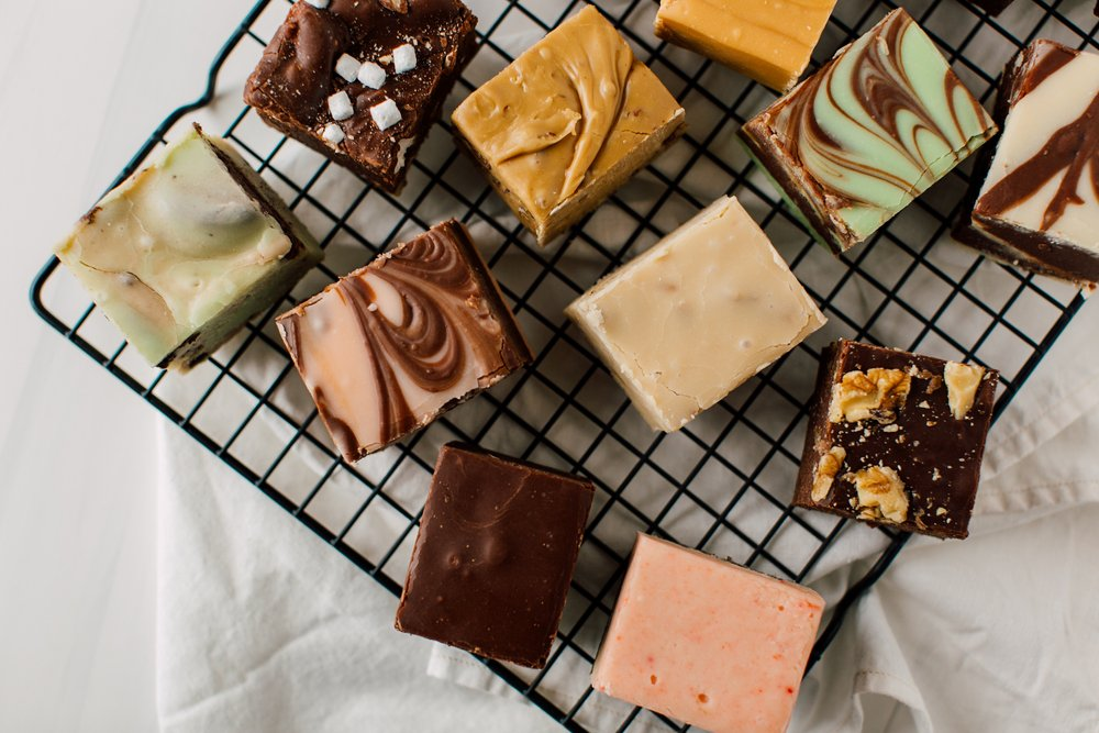 A photo of homemade Fudge on a rack. | Photo: Shutterstock
