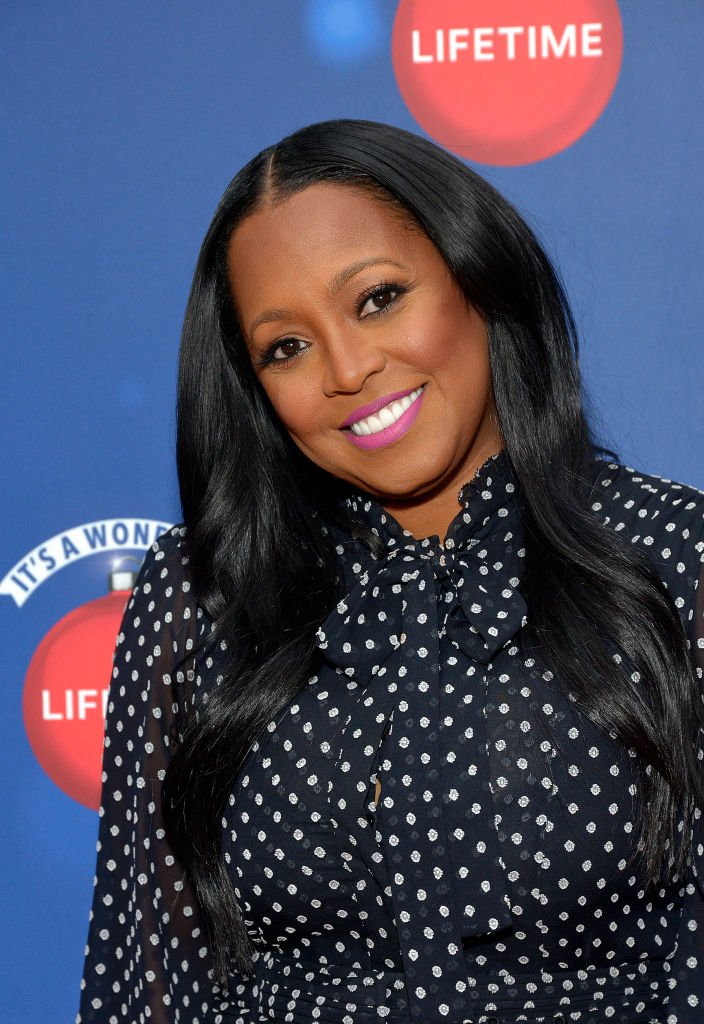 "Actor Keshia Knight Pulliam attends Say ""Santa!"" with It's A Wonderful Lifetime photo experience at Glendale Galleria 