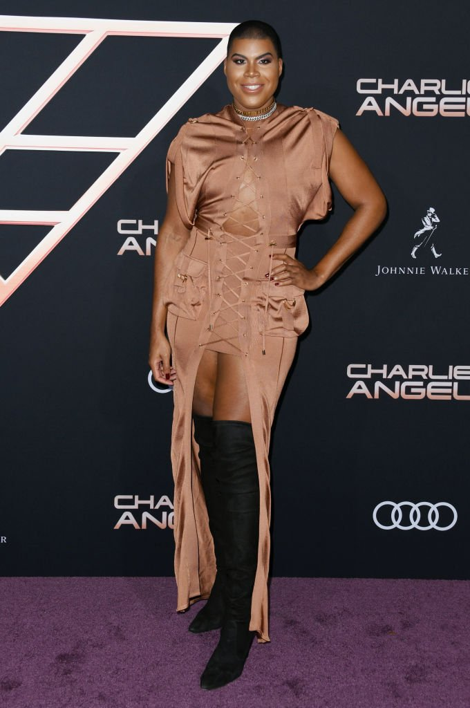 """EJ Johnson attends the premiere of Columbia Pictures' """"Charlie's Angel's"""" at Westwood Regency Theater. 