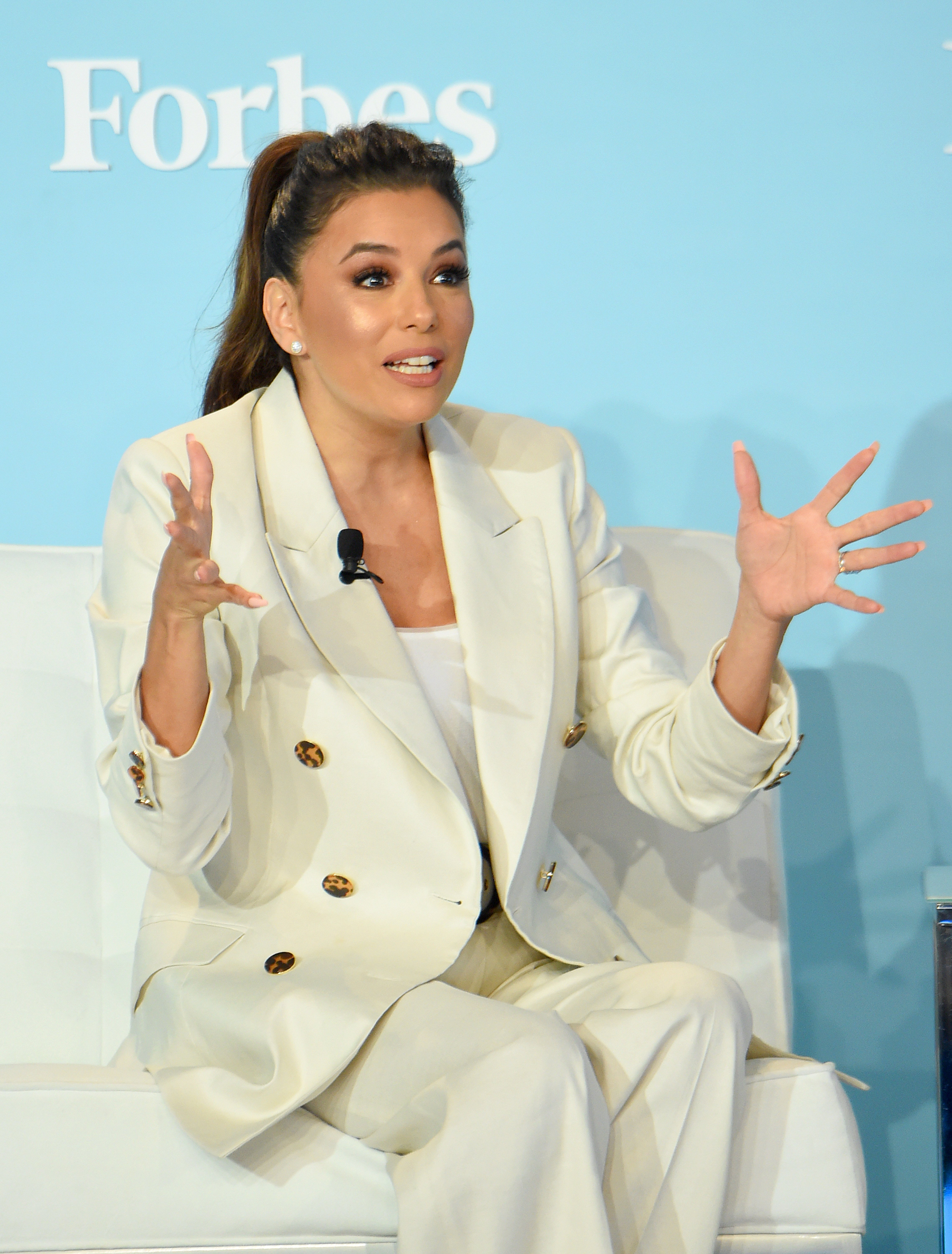 Eva Longoria speaks onstage at the 2019 Forbes Women's Summit at Pier 60 on June 18, 2019 in New York City. | Source: Getty Images