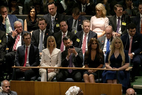 Ivanka Trump, Donald Trump Jr., Kimberly Guilfoyle and Tiffany Trump at the UN General Assembly meeting in New York | Photo: Getty Images