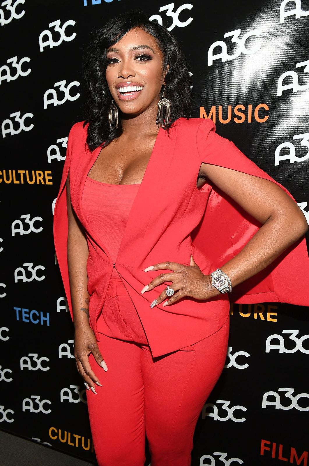 Porsha Williams arrives at the A3C Festival & Conference on October 10, 2019.   Photo: Getty Images.