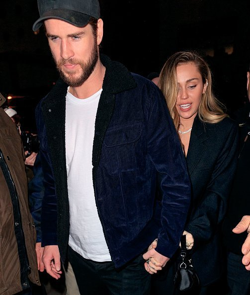 Miley Cyrus and Liam Hemsworth arriving at SNL Afterparty in New York City |Photo: Getty Images