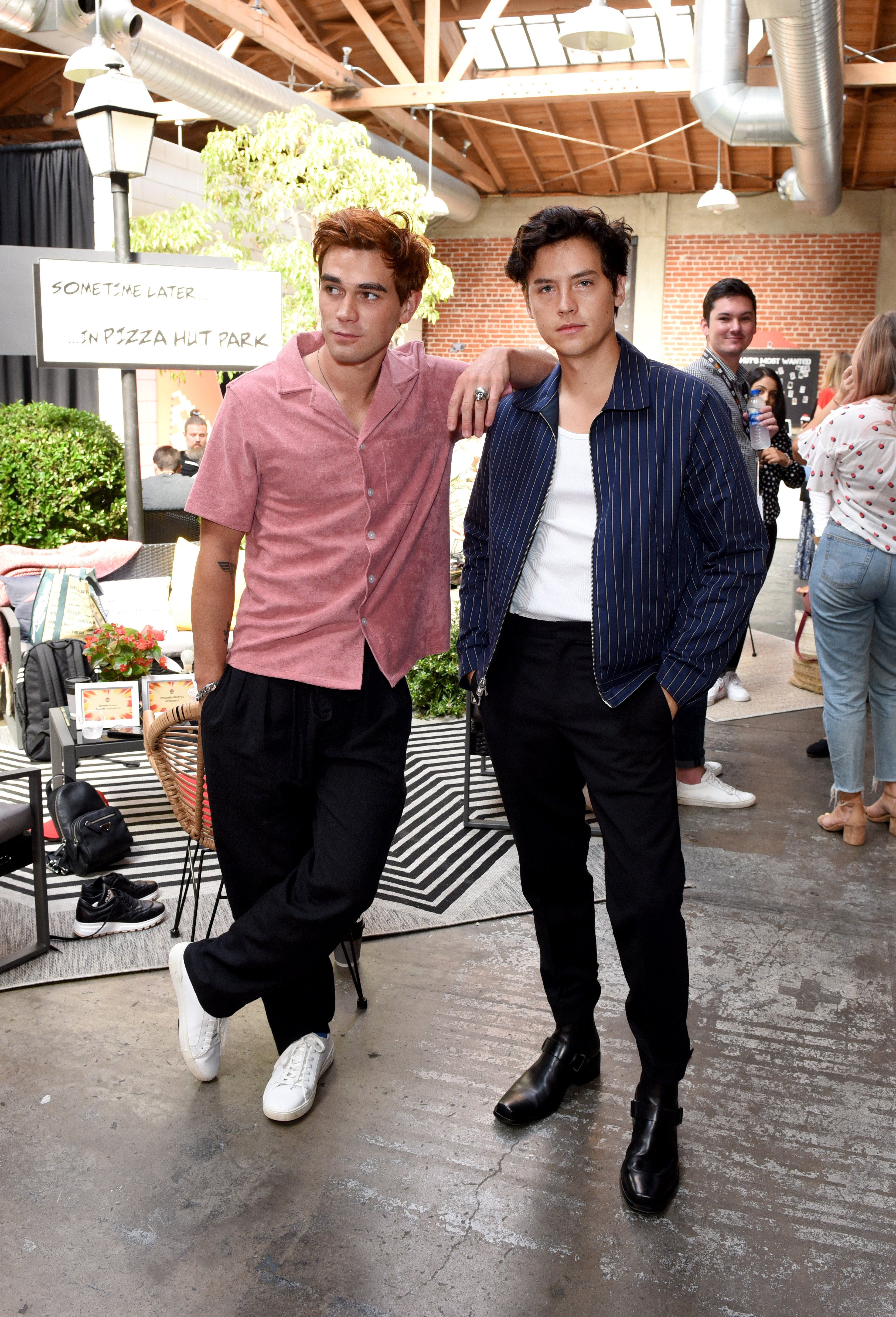 KJ Apa and Cole Spouse pictured at the Pizza Hut Lounge at 2019 Comic-Con International: San Diego, California. | Photo: Getty Images