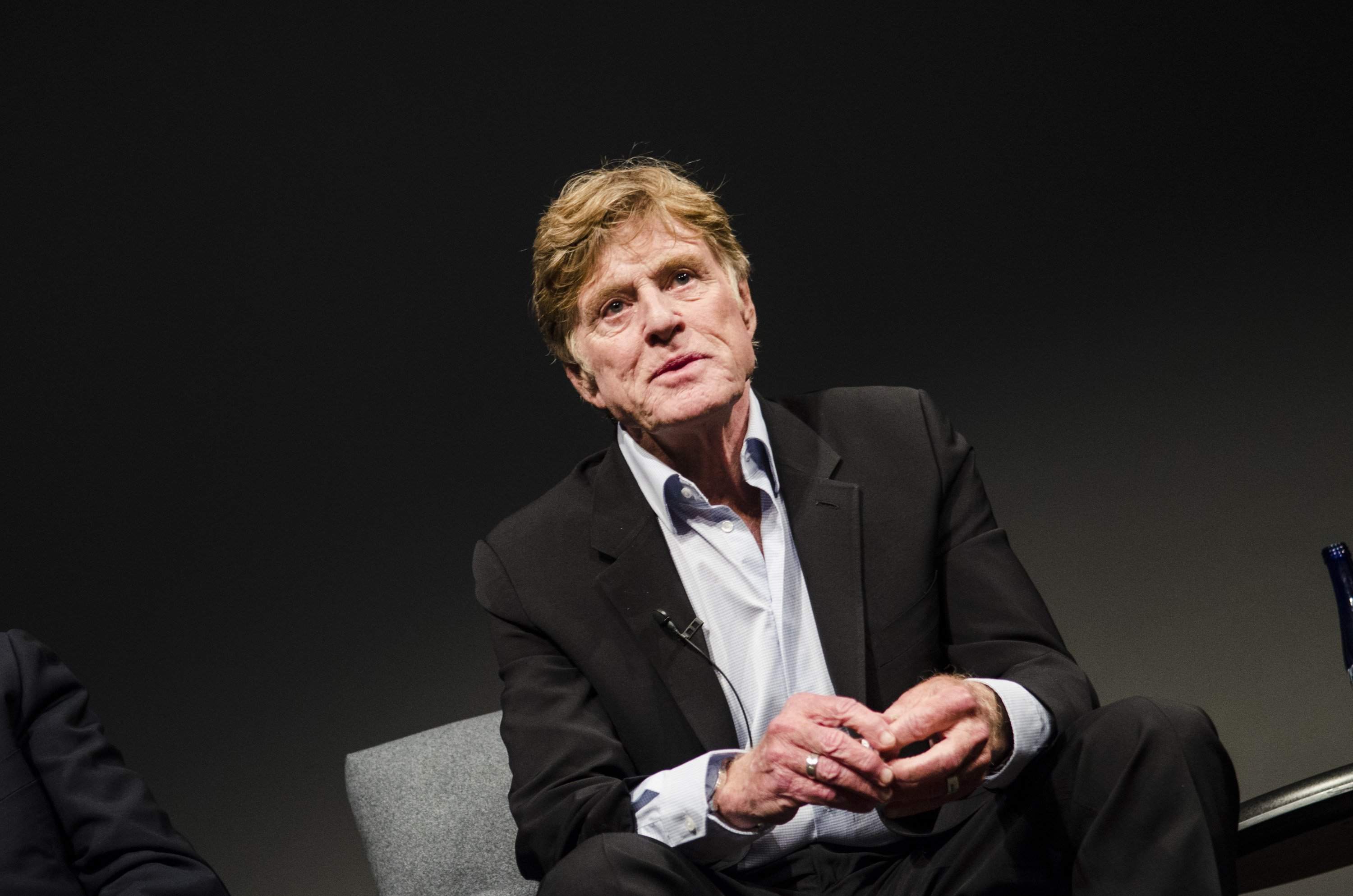 "Robert Redford speaks during the ""All The Presidents Men Revisited"" screening at The Newseum on April 18, 2013 