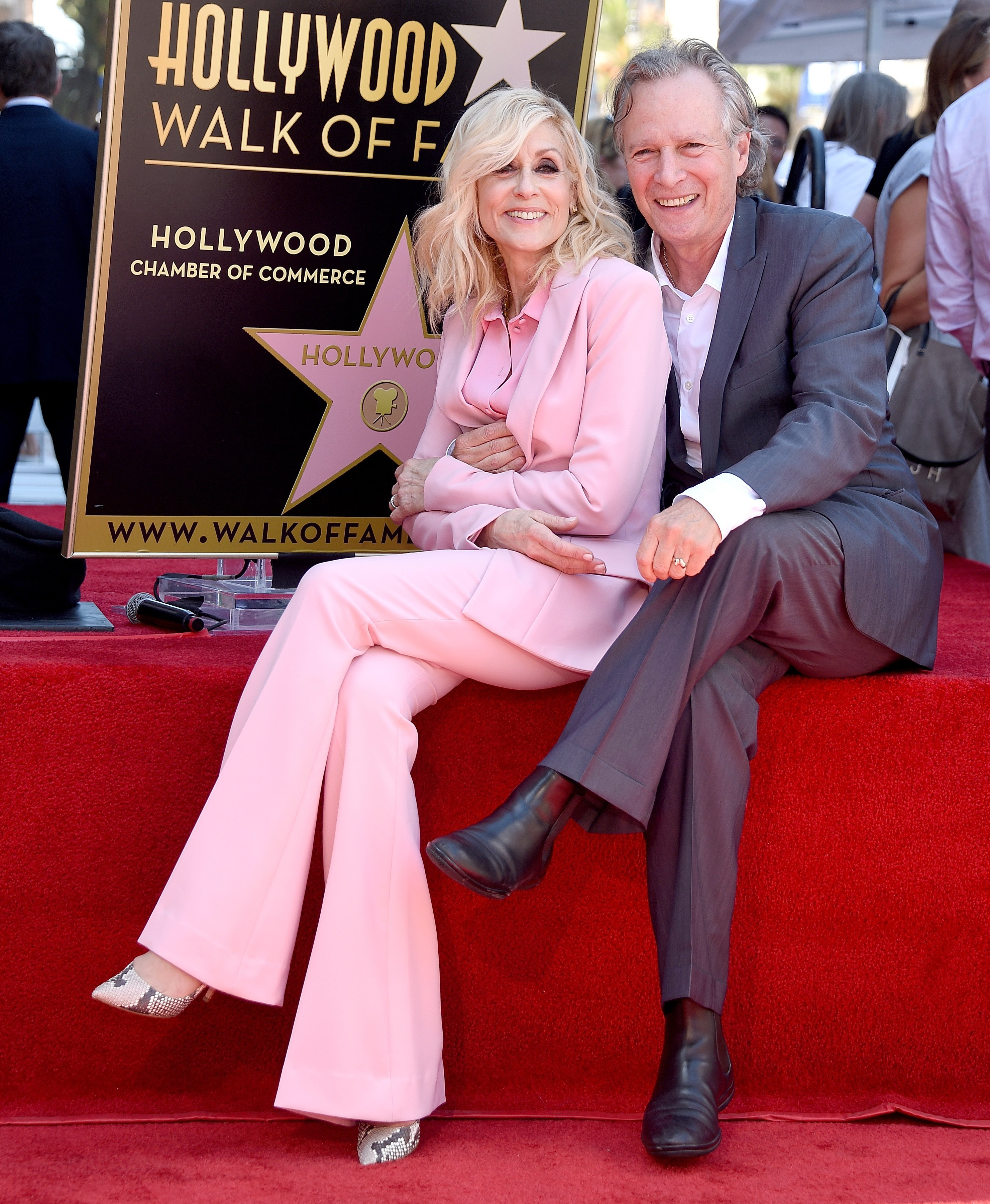 Judith Light and husband Robert Desiderio pose as Judith Light is Honored With A Star On The Hollywood Walk Of Fame on September 12, 2019, in Hollywood, California.   Source: Getty Images.