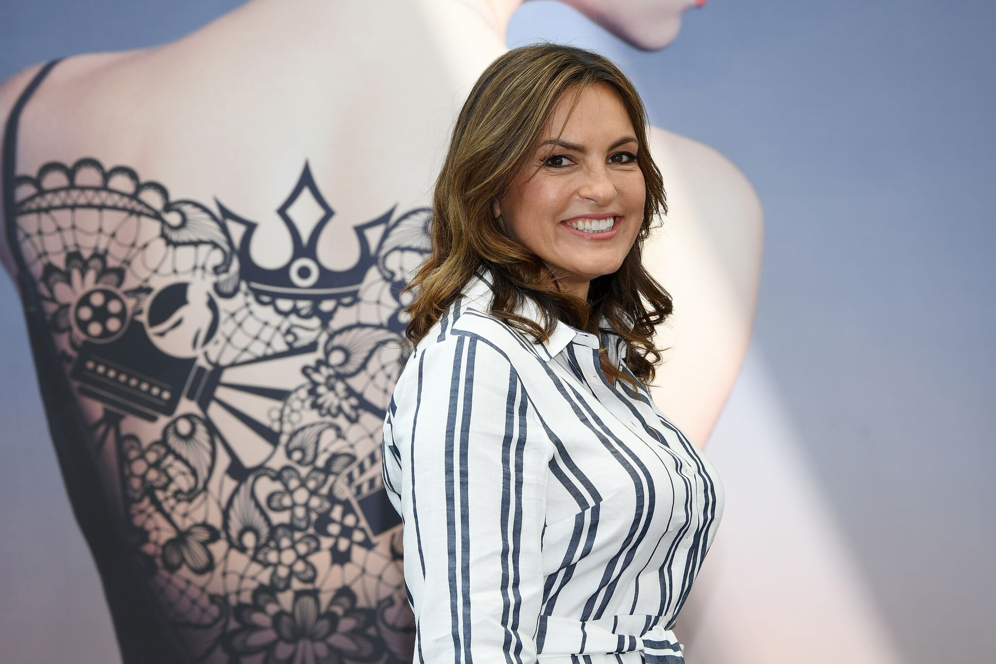 """Mariska Hargitay from the serie """"Law & Order : SVU"""" attends a photocall during the 58th Monte Carlo TV Festival on June 17, 2018 