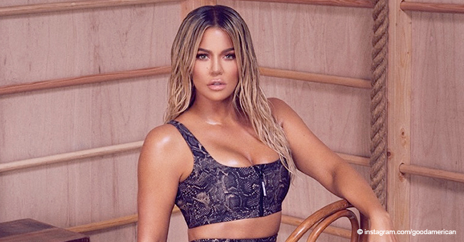 Khloé Kardashian 'Slays in Snakeskin' as She Poses in Animal-Printed Bra in a Sweaty Photo