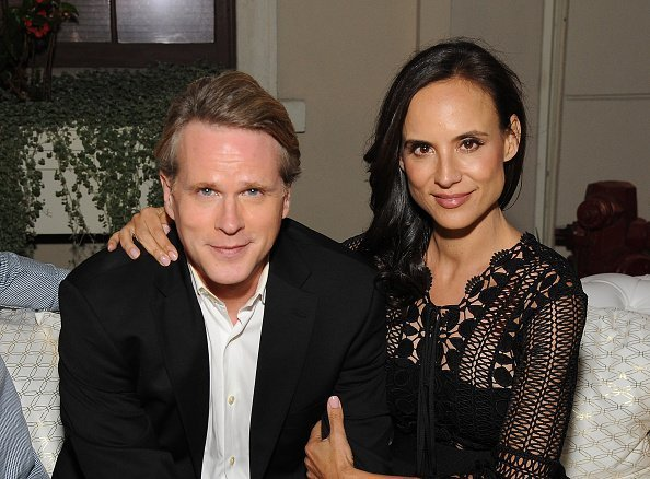 "Cary Elwes and Lisa Marie Kubikoff attend the premiere of Crackle's ""The Art of More"" after party at Sony Pictures Studios on October 29, 2015 in Culver City, California 