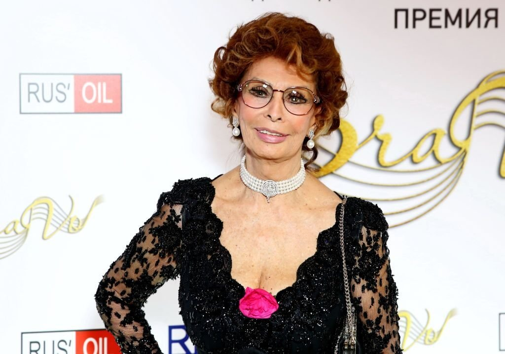 "Sophia Loren assiste à la remise des prix internationaux de musique professionnelle BraVo à ""Europeisky"" halll à Moscou, Russie. 