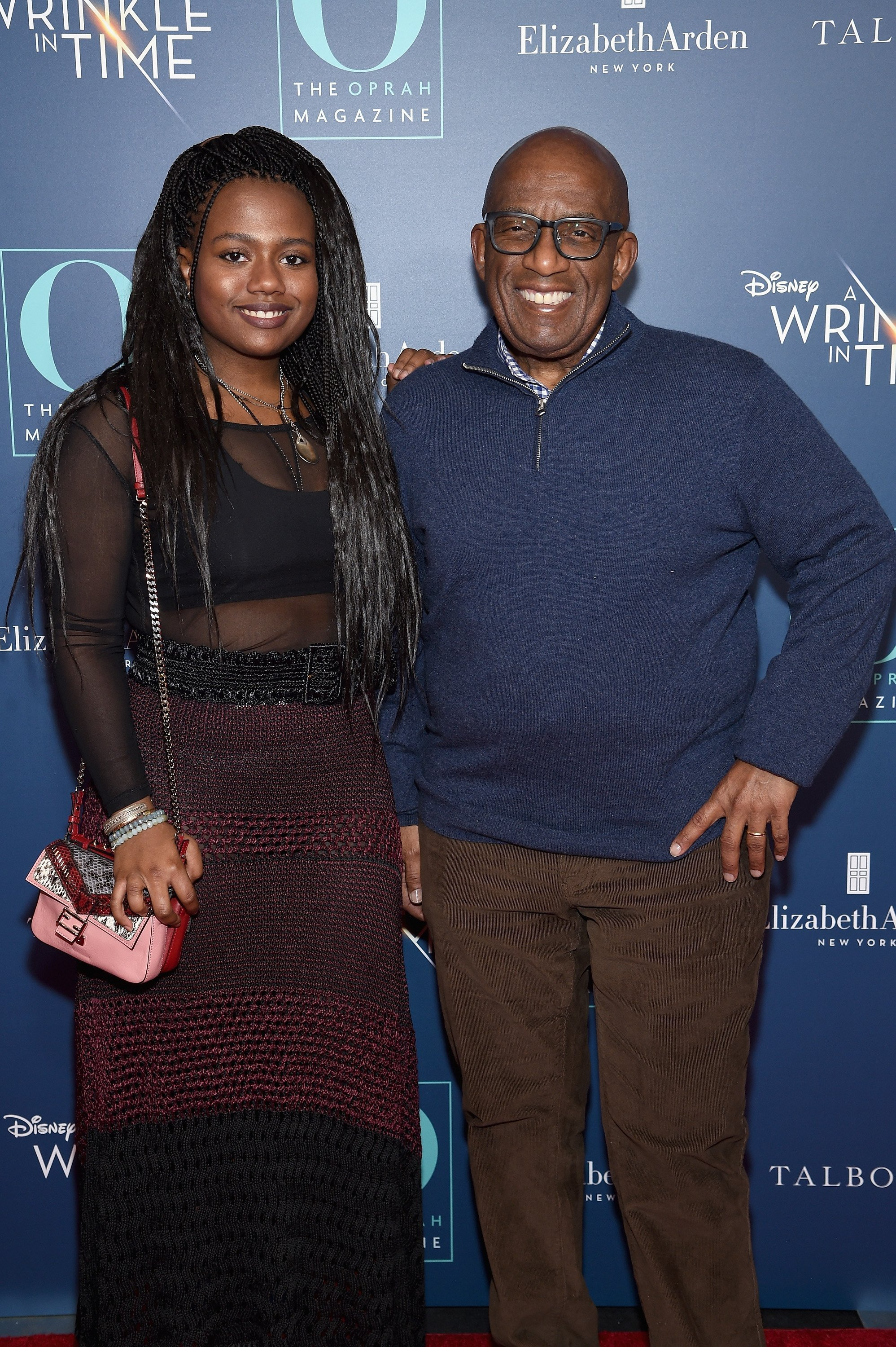 "Al Rocker and daughter attend The Oprah Magazine hosts special NYC screening of ""A Wrinkle In Time"" at Walter Reade Theater. 