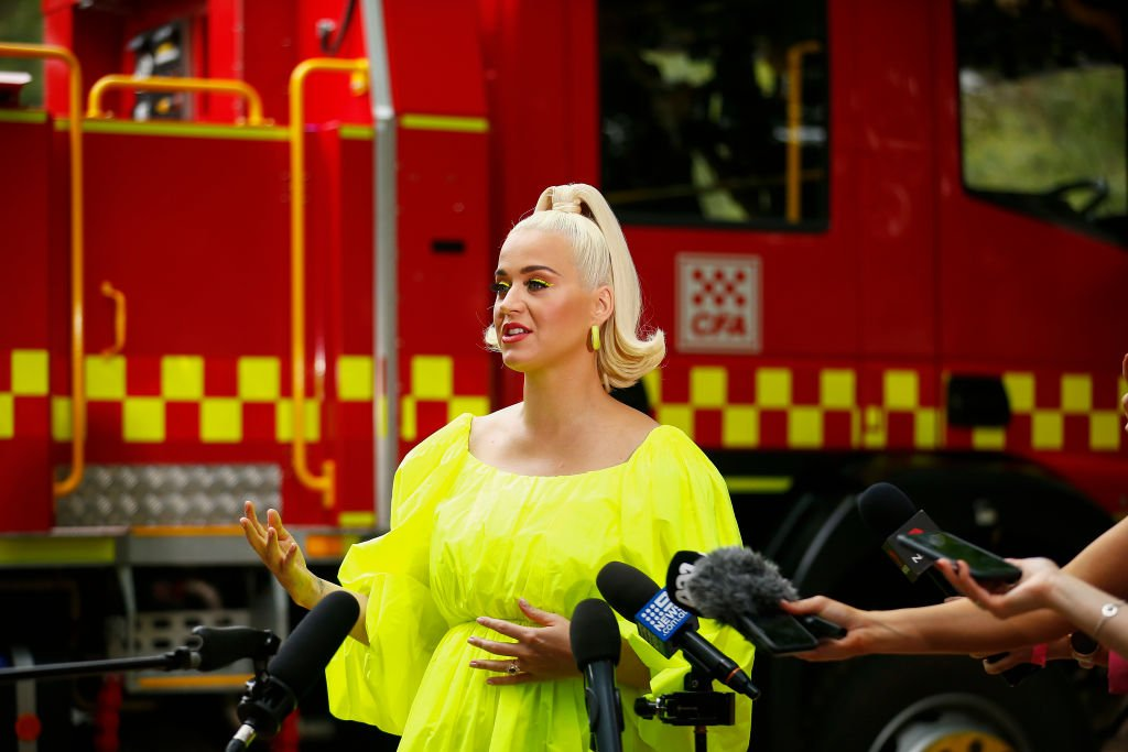 Katy Perry speaks to media in Bright, Australia on March 11, 2020 | Photo: Getty Images