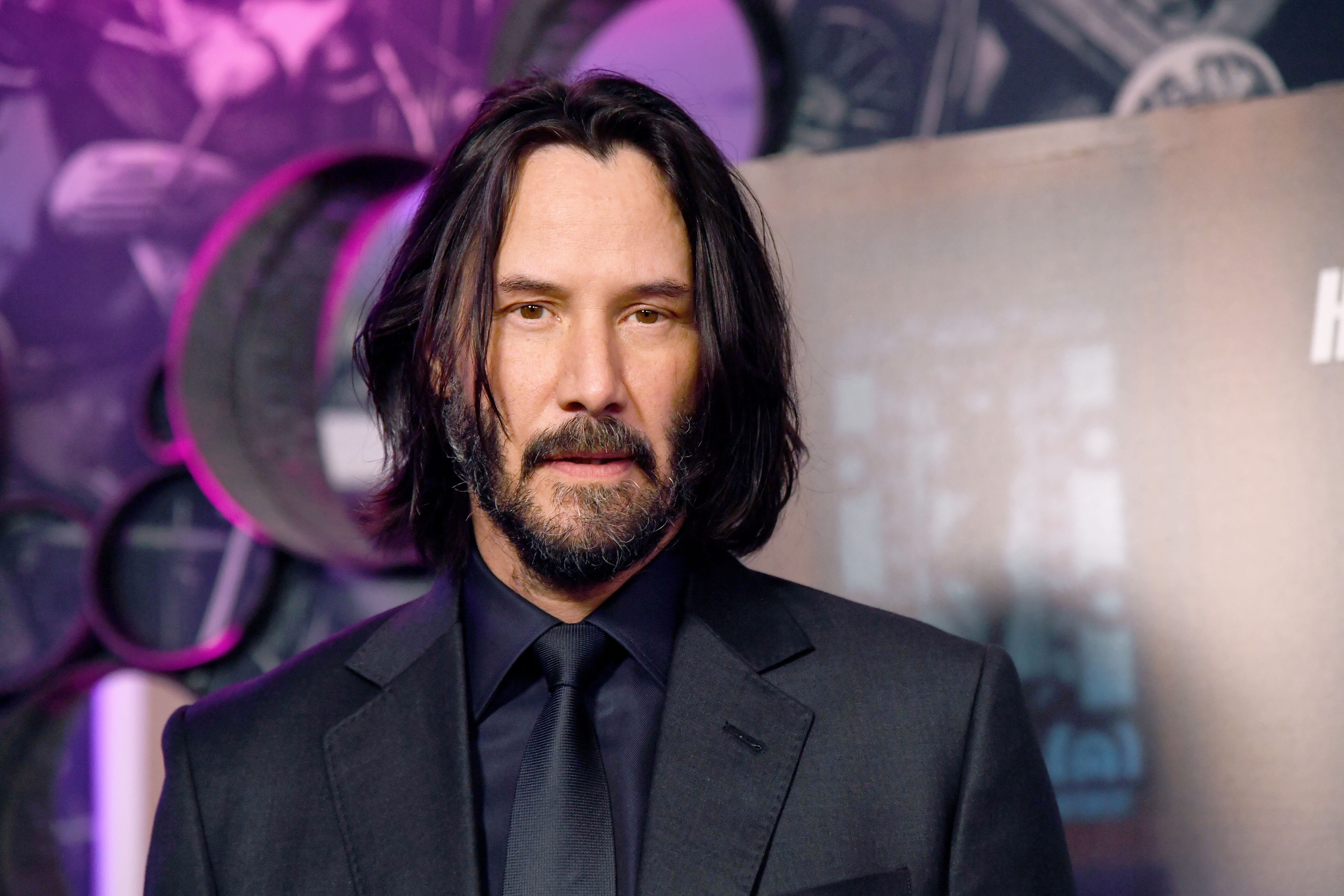 "Keanu Reeves at the ""John Wick"" special screenings at Ham Yard Hotel on May 03, 2019, in London, England 
