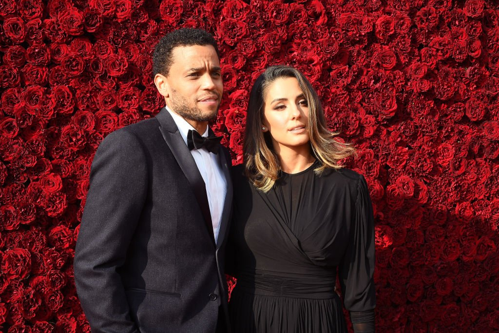 Michael Ealy and Khatira Rafiqzada attend the Tyler Perry Studios grand opening gala on October 05, 2019. | Photo: Getty Images