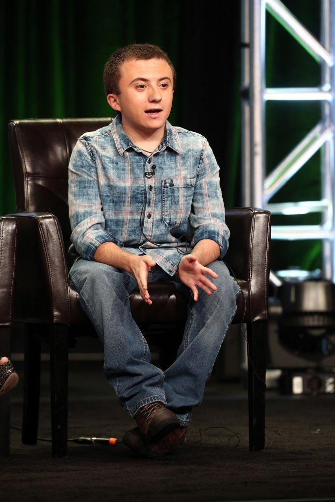 """Atticus Shaffer of """"The Middle"""" speaks onstage during the Disney/ABC Television Group portion of the 2017 Summer Television Critics Association Press Tour  