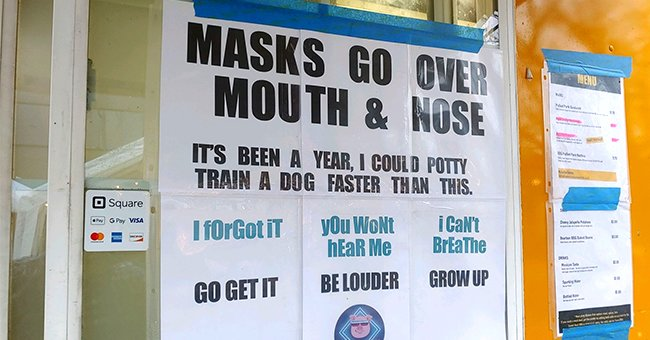 Food-Truck Owner's Sign Encouraging People to Wear Face Masks Goes Viral — See the Poster