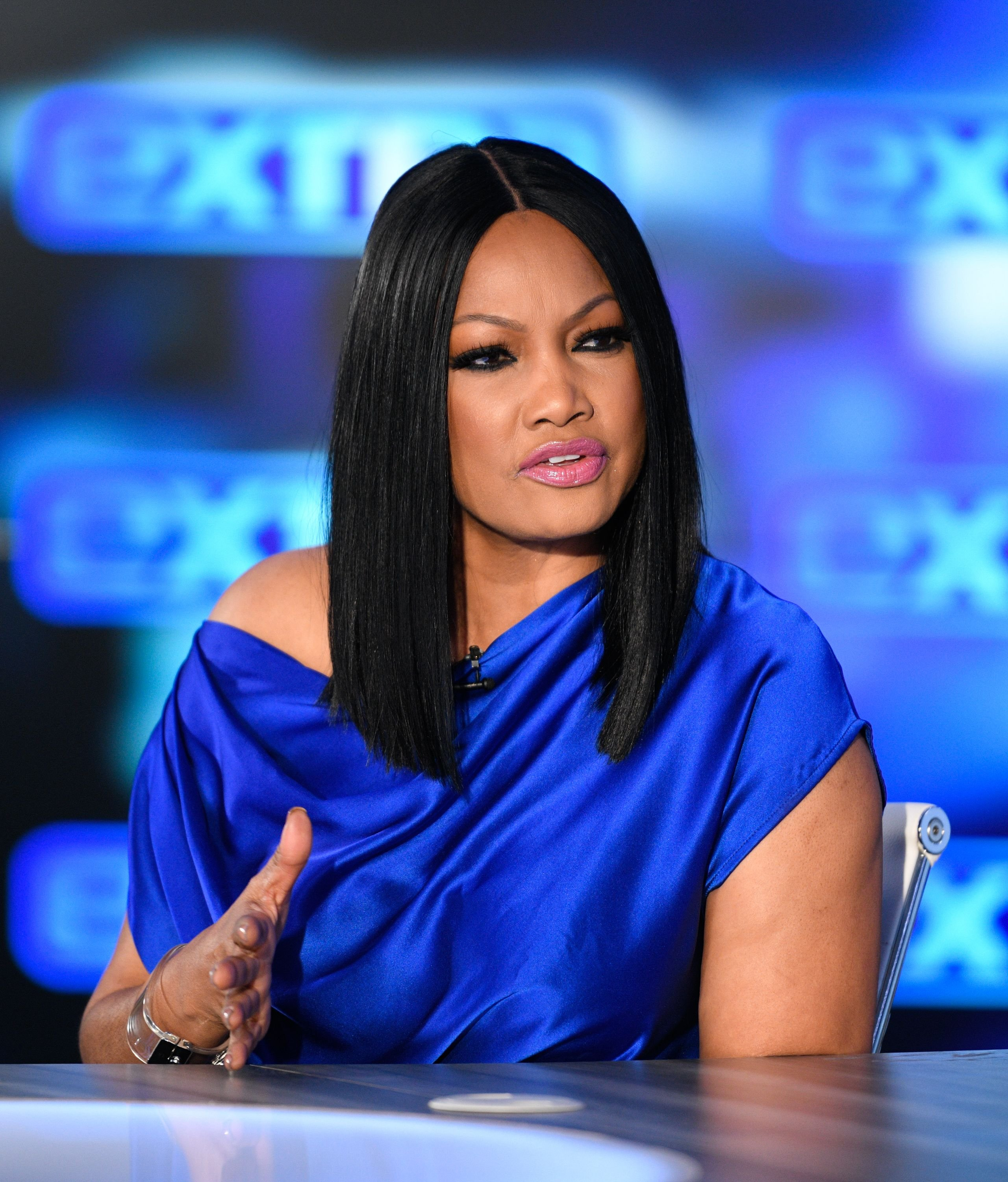 "Garcelle Beauvais appears in ""Extra"" at Burbank Studios on November 26, 2019 in Burbank, California. 