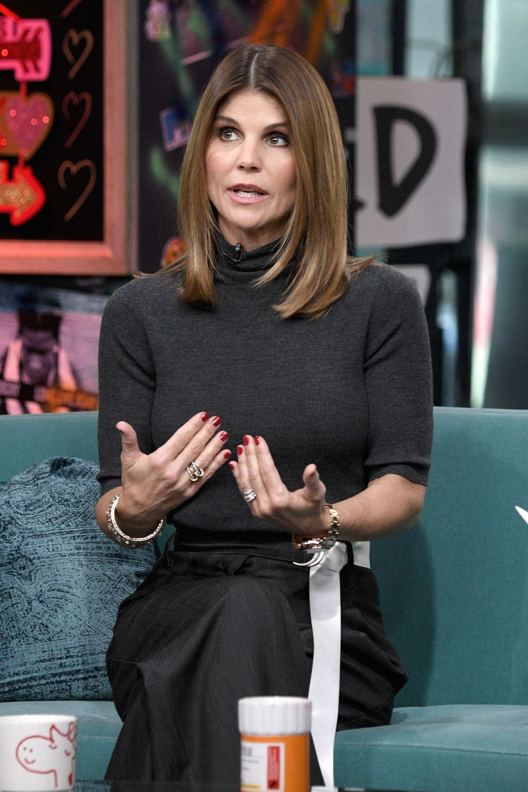 "Lori Loughlin visits the Build Brunch to discuss the Hallmark Channel TV series ""When Calls the Heart"" at Build Studio on February 14, 2019, in New York City 