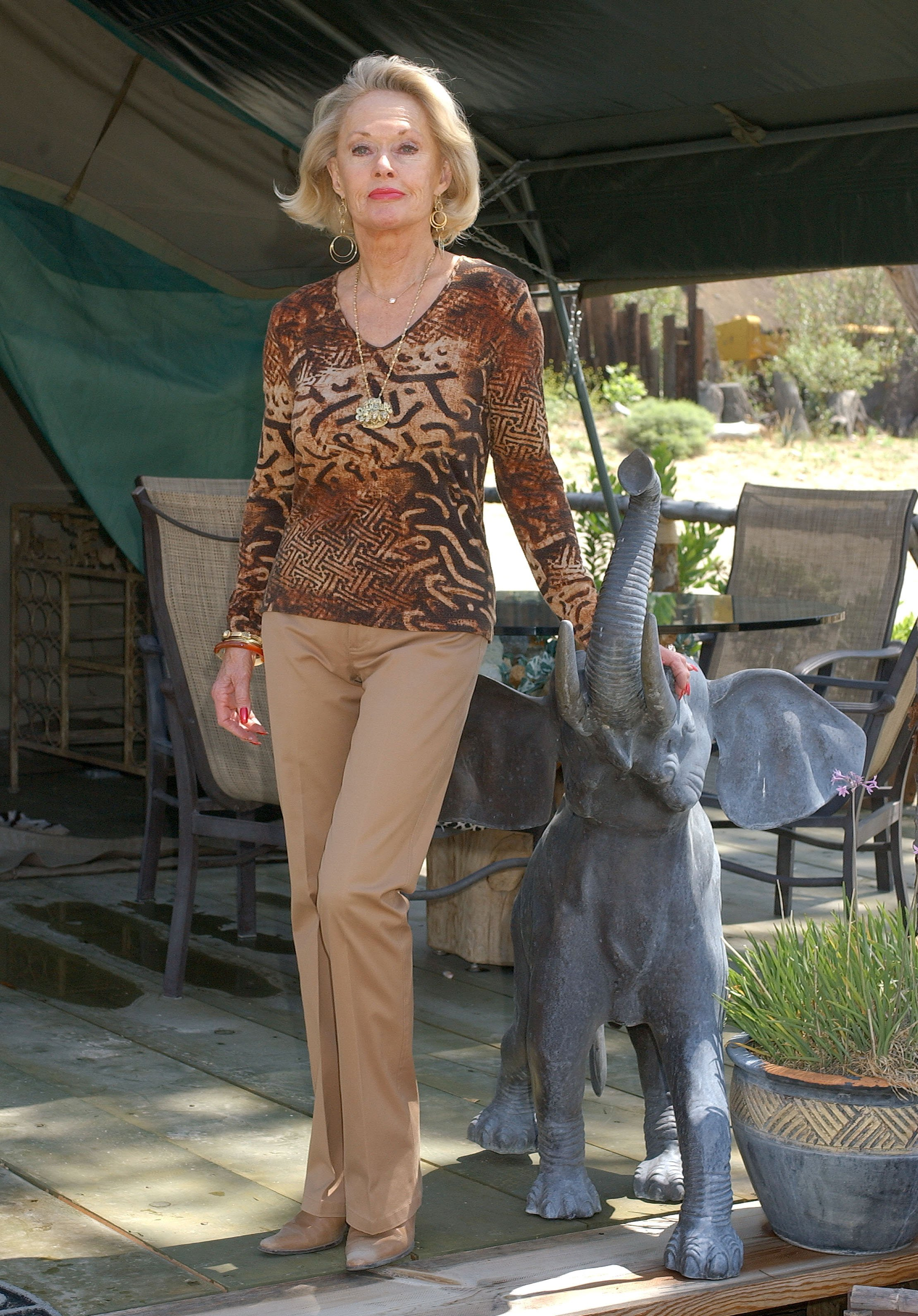 Tippi Hedren during ROAR for Wildlife Global Conference at The Shambala Preserve in Acton, California, United States. | Source: Getty Images