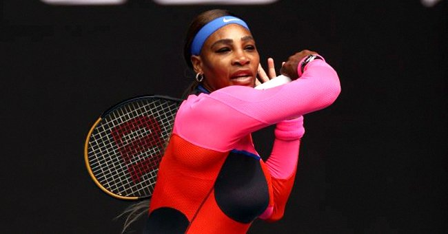 Serena Williams & Daughter Olympia Look Cute Flashing White Smiles in Cool Printed Headbands