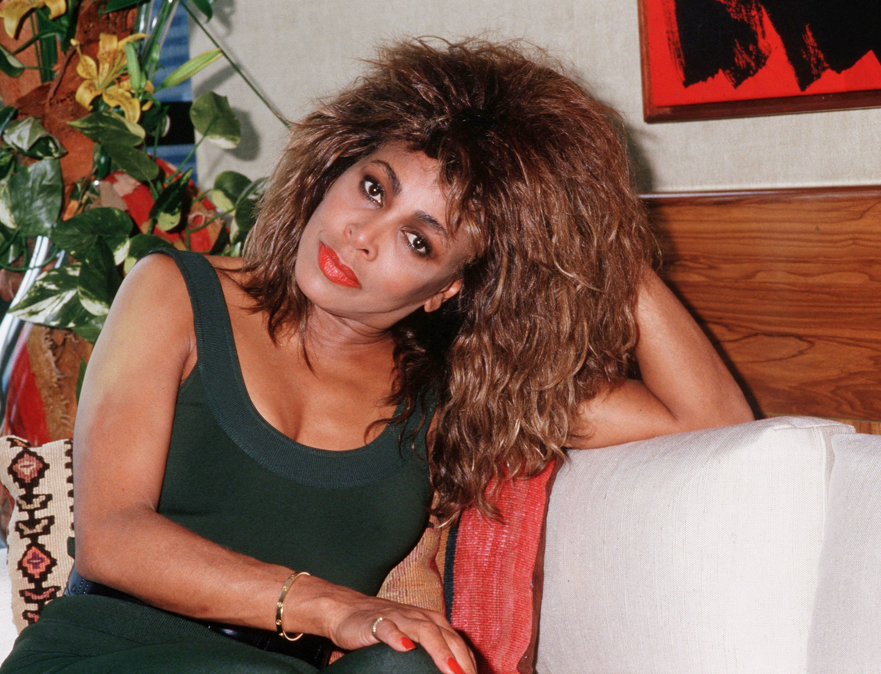 Tina Turner in Rio de Janeiro, Brazil in 1988. | Source: Getty Images.