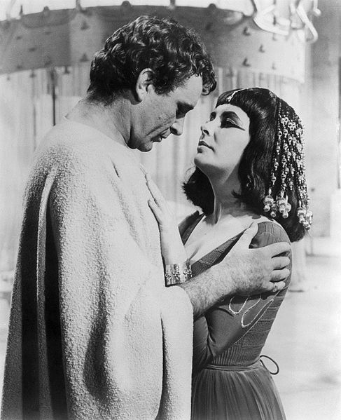 "Richard Burton and Elizabeth Taylor in ""Cleopatra."" 